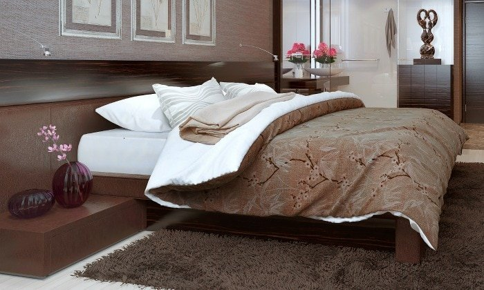 Luxury sheets on a bed