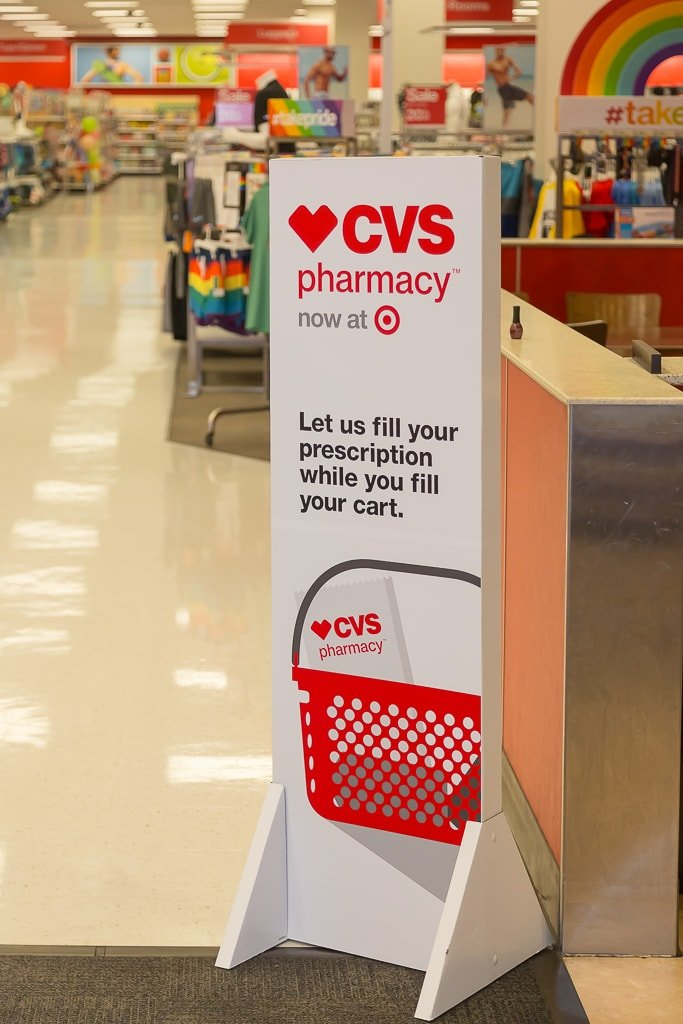 CVS Pharmacy unveils Washington State's first CVS Pharmacy in Target locations during an event at a Seattle Target store on June 7, 2016. The new pharmacies are being operated through a store-within-a-store format and are branded CVS Pharmacy.
