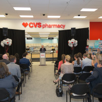 Hanley Wheeler, Senior Vice President, CVS Pharmacy, speaks during an event on June 7, 2016, at a Seattle Target store to celebrate the official unveiling of the first CVS Pharmacy in Target stores in the state of Washington. The new pharmacies are being operated through a store-within-a-store format and are branded CVS Pharmacy. Reply