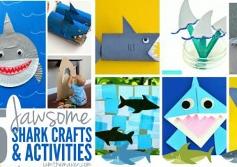 25 Shark Crafts and Activities for Kids #SharkWeek