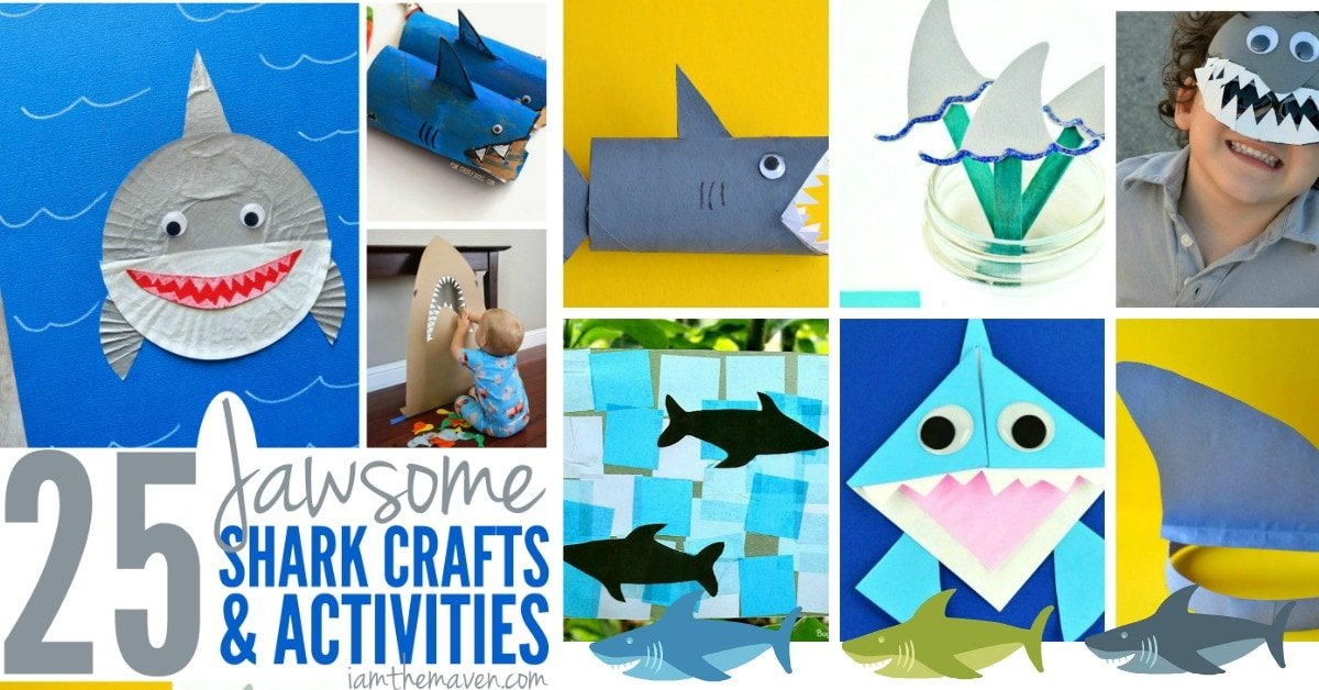 Celebrate shark week with these shark crafts