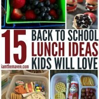 Back to School Lunch Ideas with Text