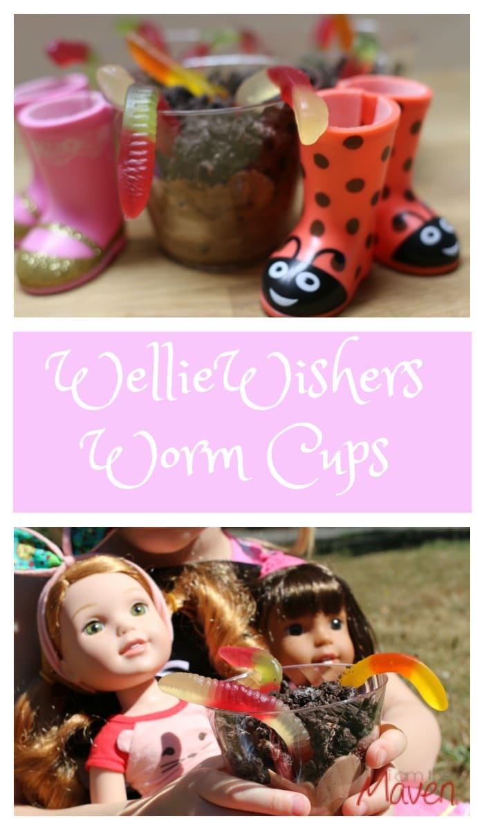 Make these WellieWishers Worm Cups, inspired by American Girl