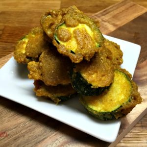Zucchini Pakoras (with fresh milled flour)