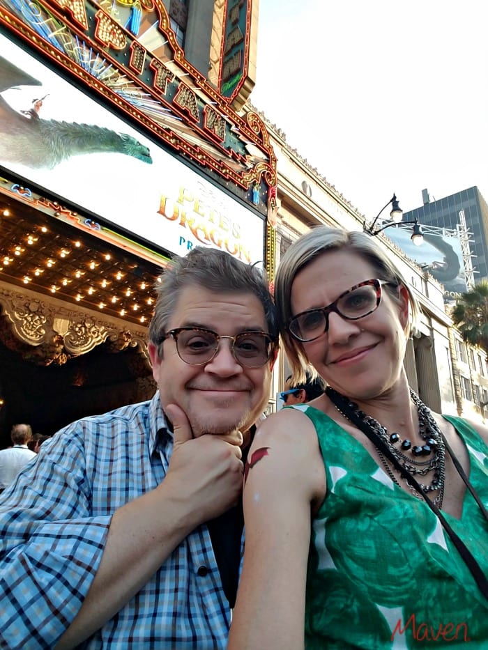 Patton Oswalt and I at the Pete's Dragon Red Carpet Premiere