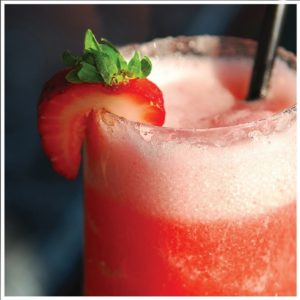 Spiked Strawberry Slushie