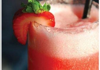 Spiked Strawberry Slushie