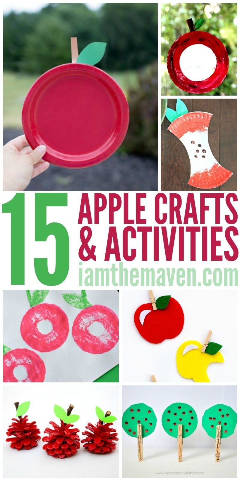 Check out these EASY apple crafts (and activities) for kids! Perfect for Back to School!