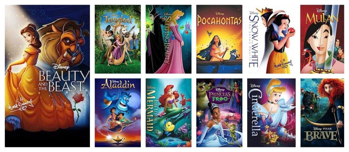All Disney Princess Movies Ever Made