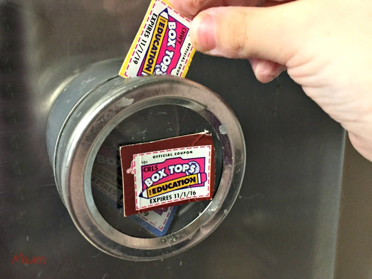 It's easy to save Box Tops!