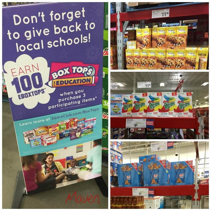 Sam's Club makes it easy to save Box Tops!