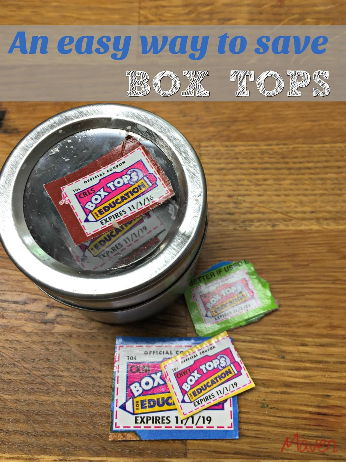 Check out this easy way to save Box Tops.