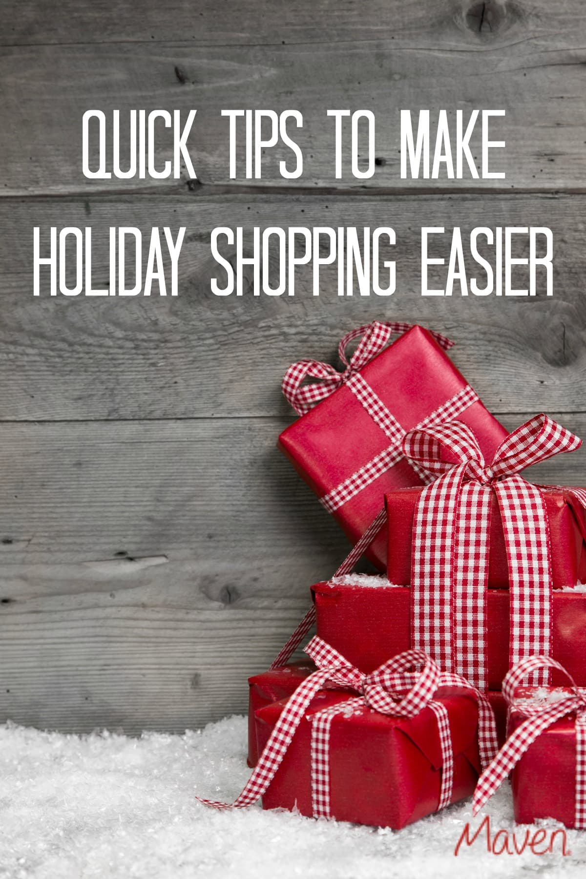 Don't miss these quick tips to make holiday shopping easier! {ad}