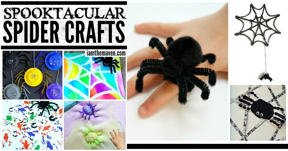 These kid friendly spider crafts are perfect for Halloween.