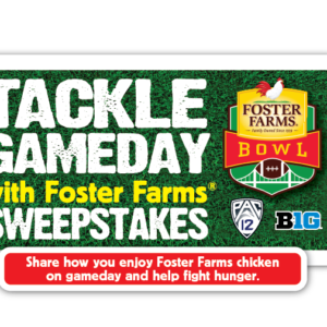 Check out the Foster Farms Game Day Sweepstakes!