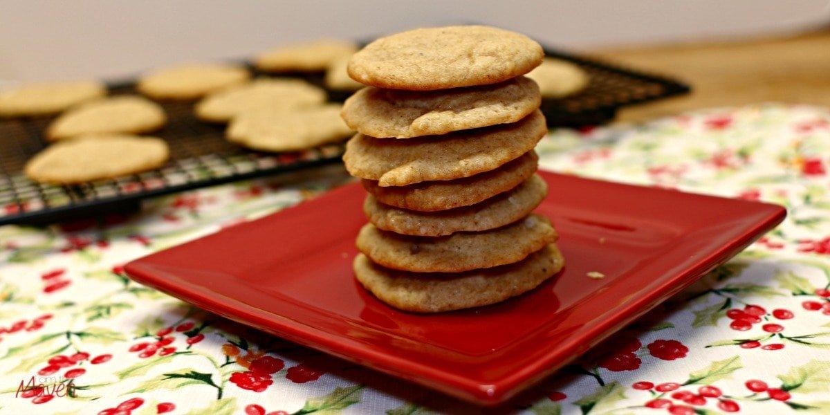 Delicious eggnog cookies!