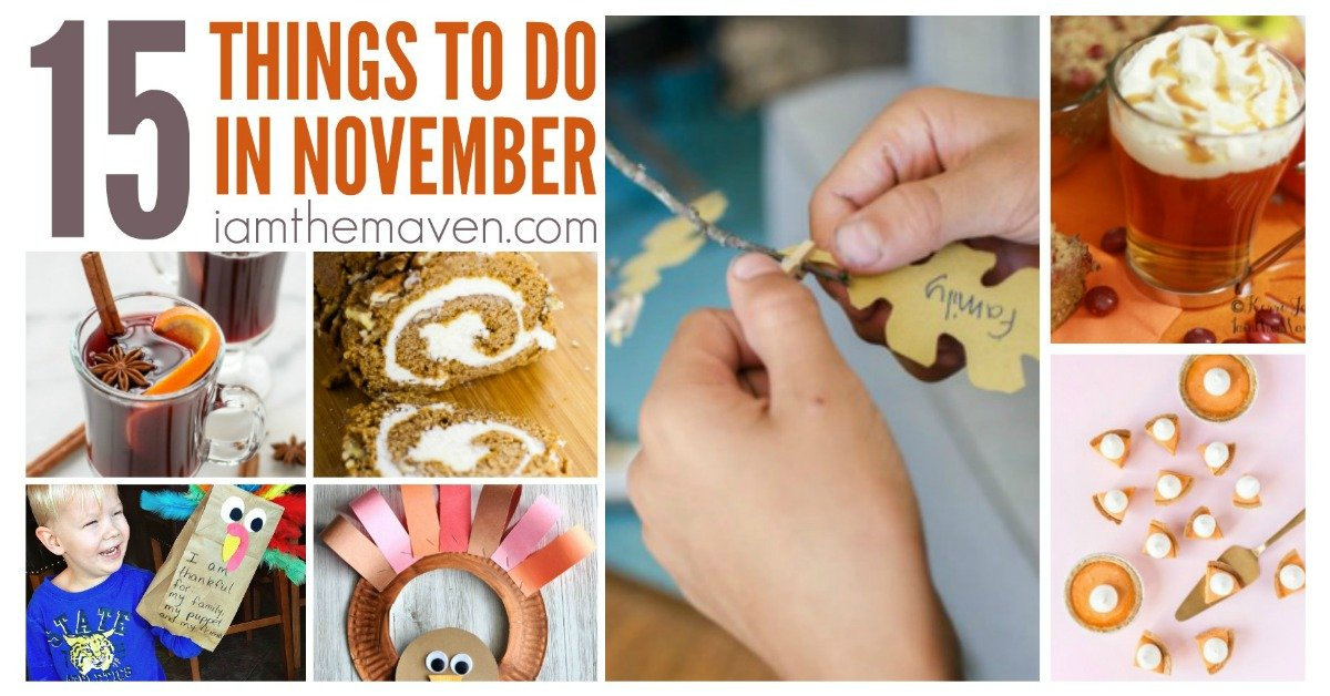pictures of activities of things to do in november