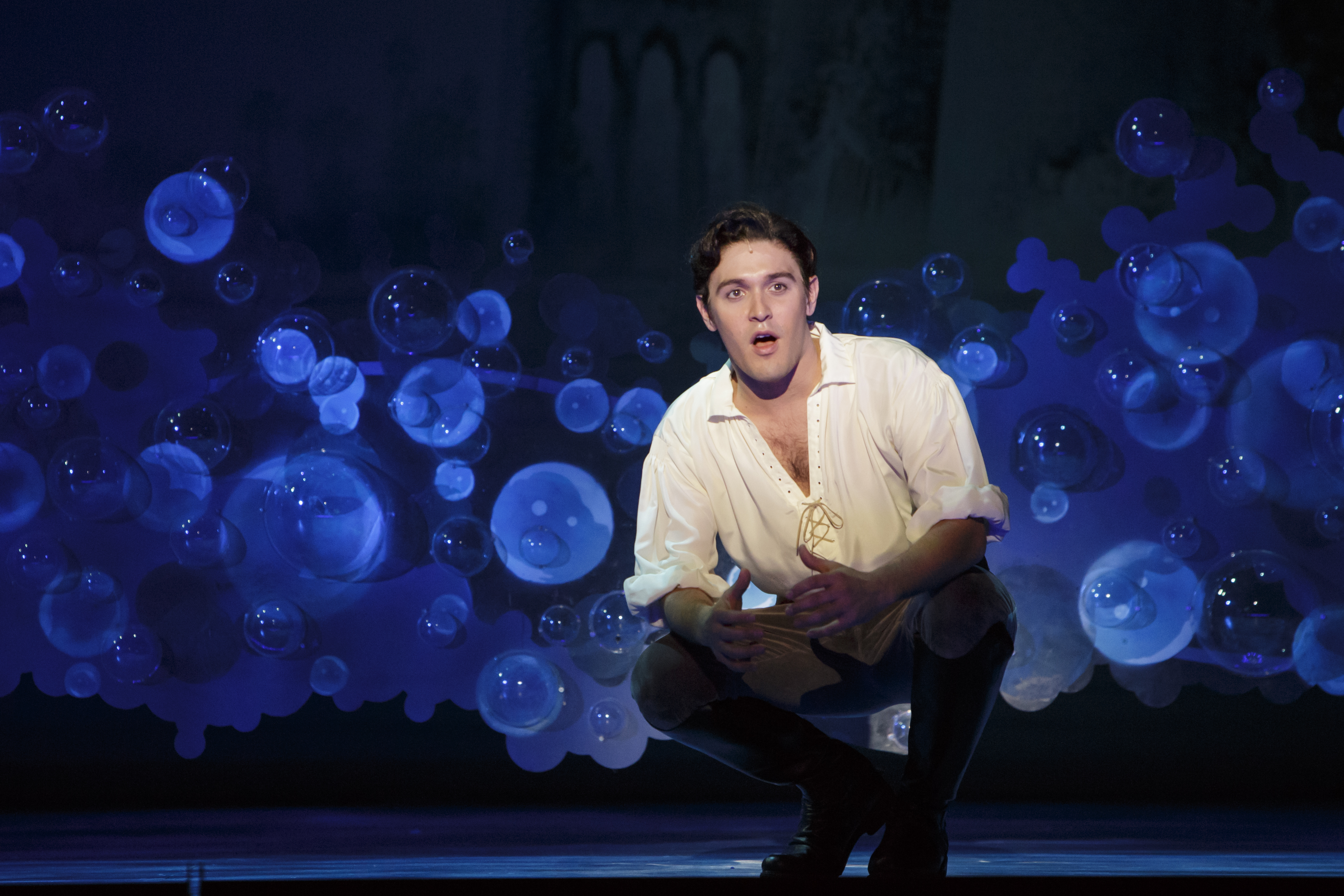 Matt Kacergis as Prince Eric in The 5th Avenue Theatre's Production of Disney's The Little Mermaid. Photo by Mark Kitaoka