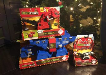 Dino Trux under the tree