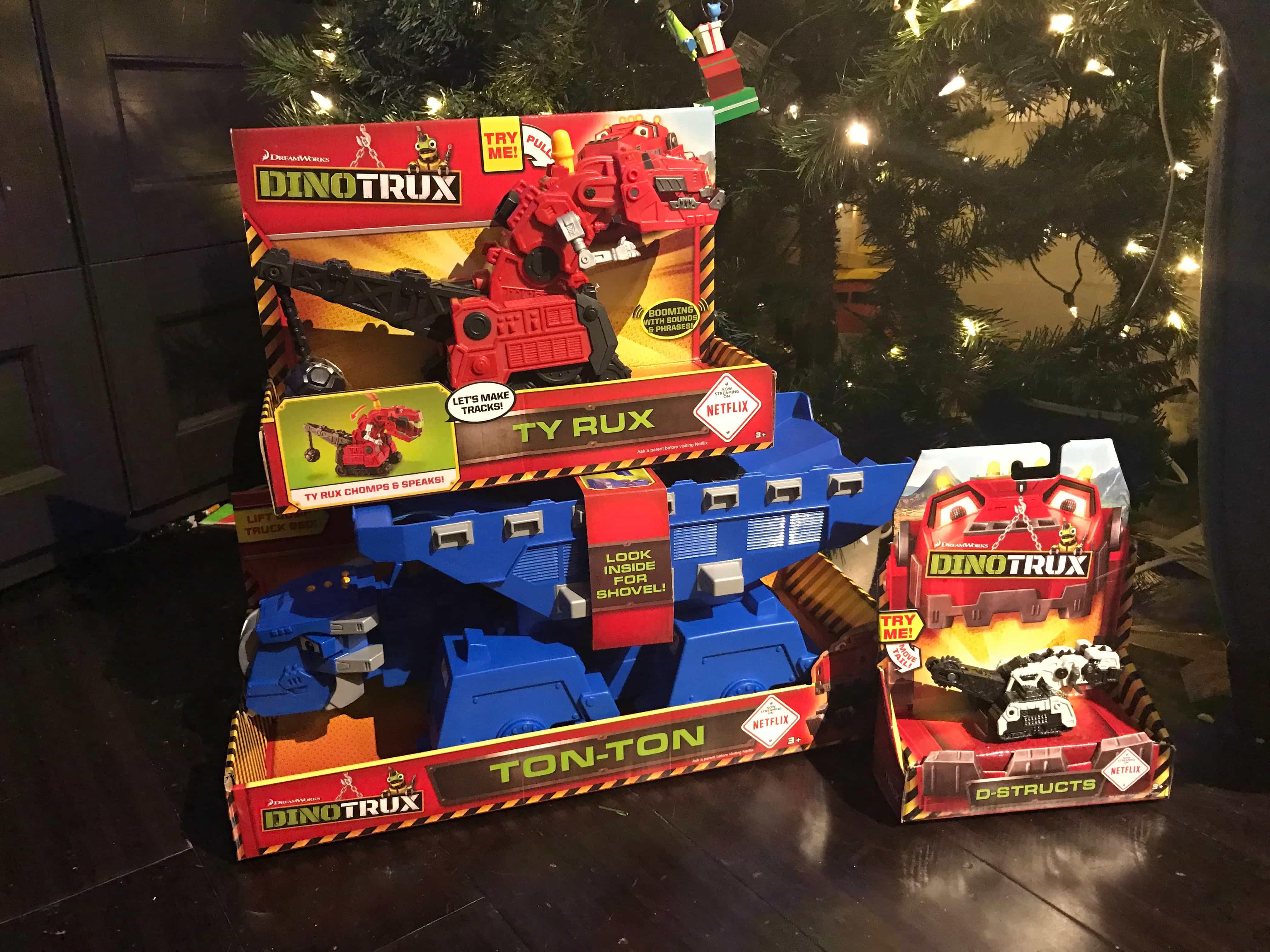 Dino Trux under the tree