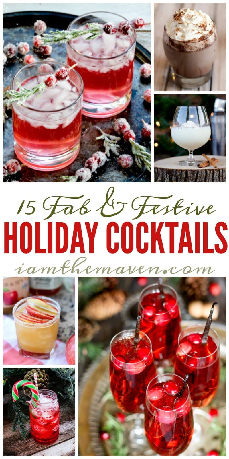 It's time to eat, drink and be merry with these holiday cocktails! Don't worry, I won't tell anyone if you're NOT having a party!