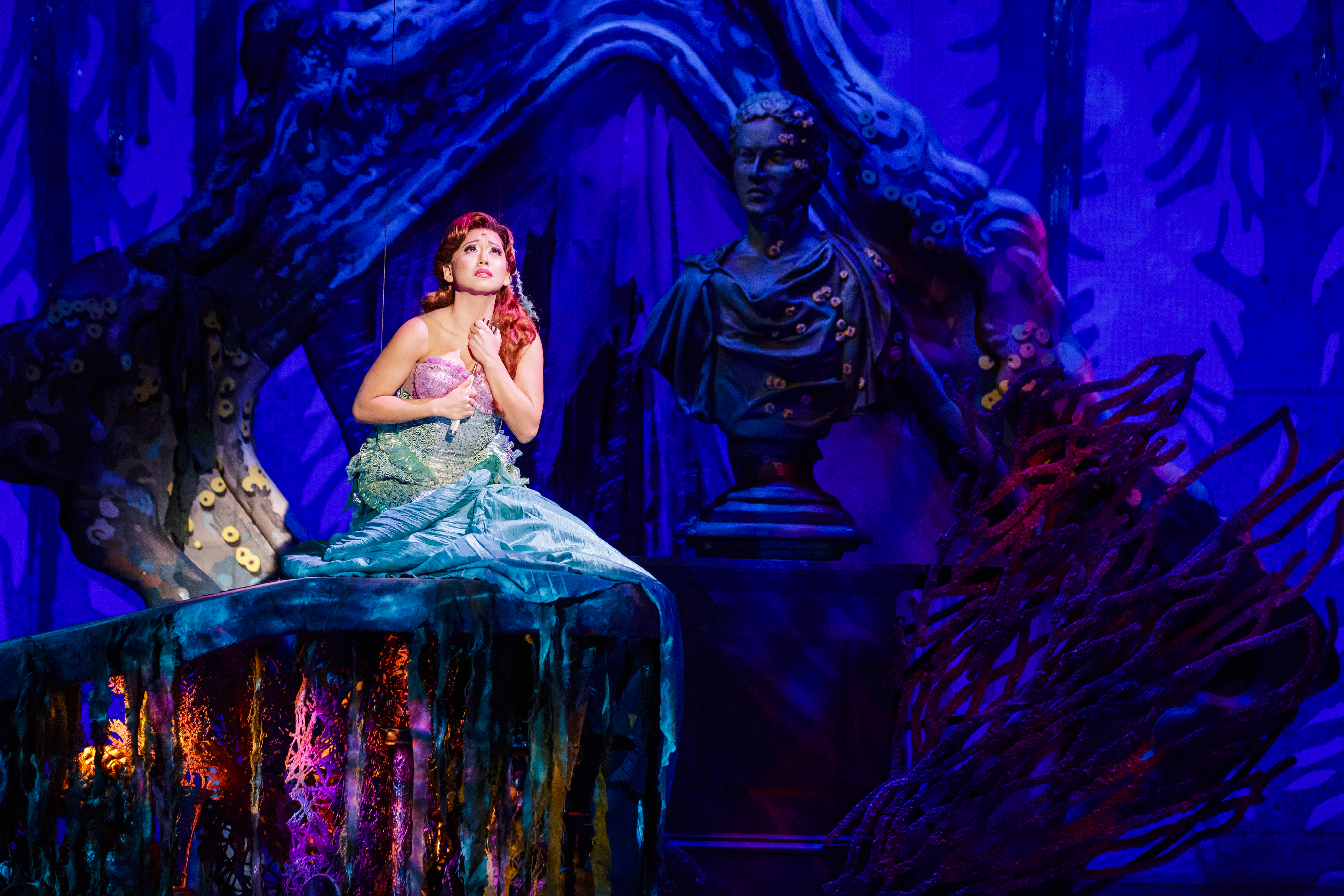Diana Huey as Ariel in The 5th Avenue Theatre's production of The Little Mermaid. Photo by Mark Kitaoka.