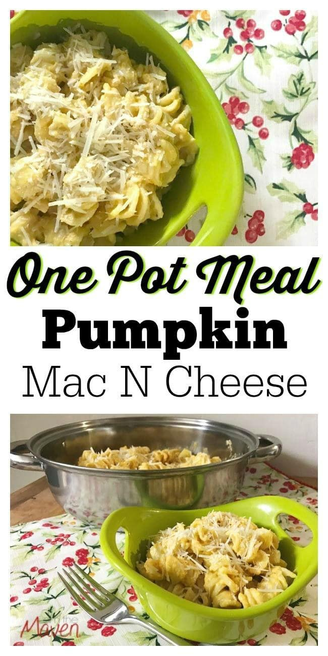 Make this one pot pumpkin mac and cheese for dinner tonight!