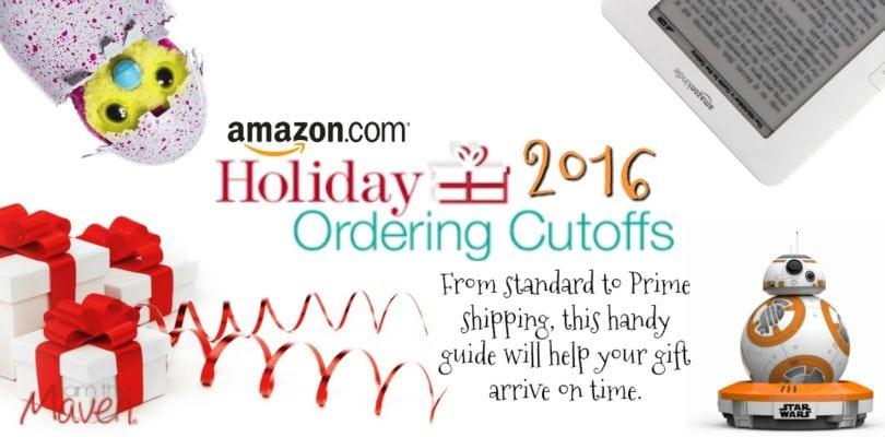 Amazon Holiday Shipping Deadline