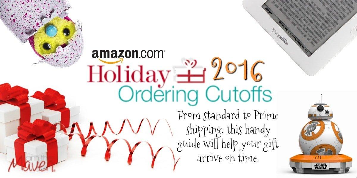 Amazon Holiday Shipping Deadlines