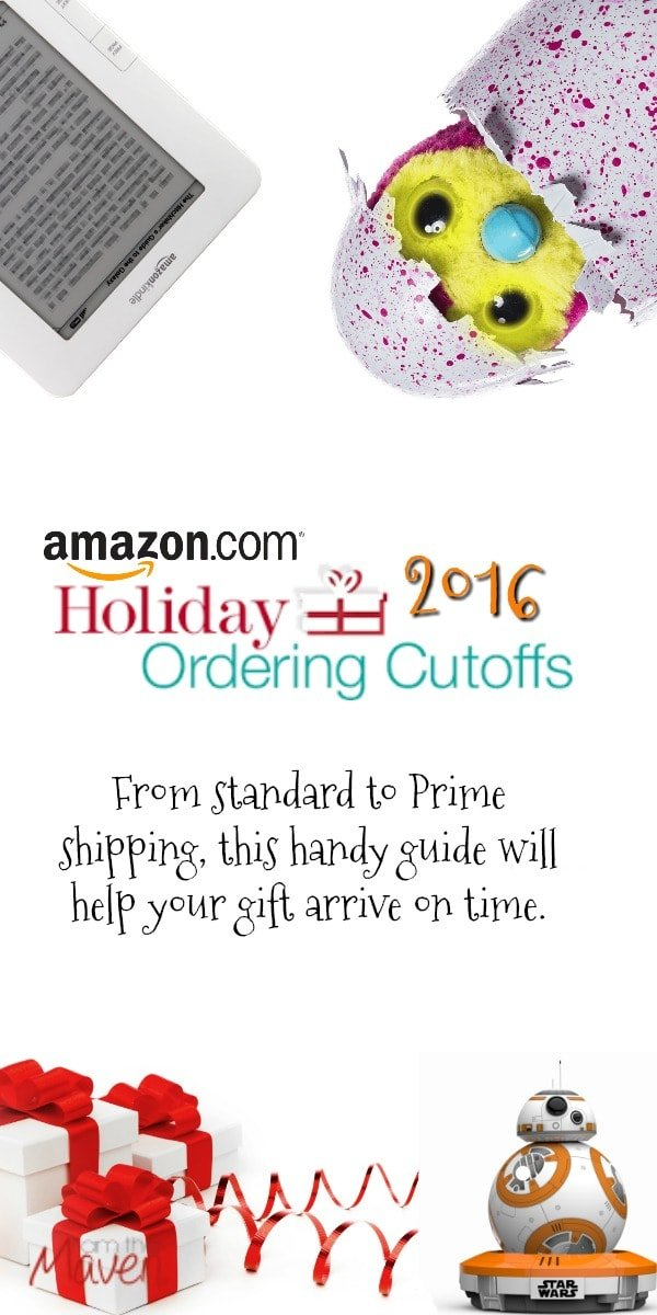 Find your dates for 2016 Amazon Holiday Shipping Deadlines!