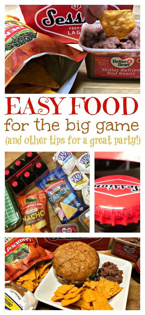 Don't miss this! Easy food for the big game plus other party tips! #BigGameBabbleboxx ad