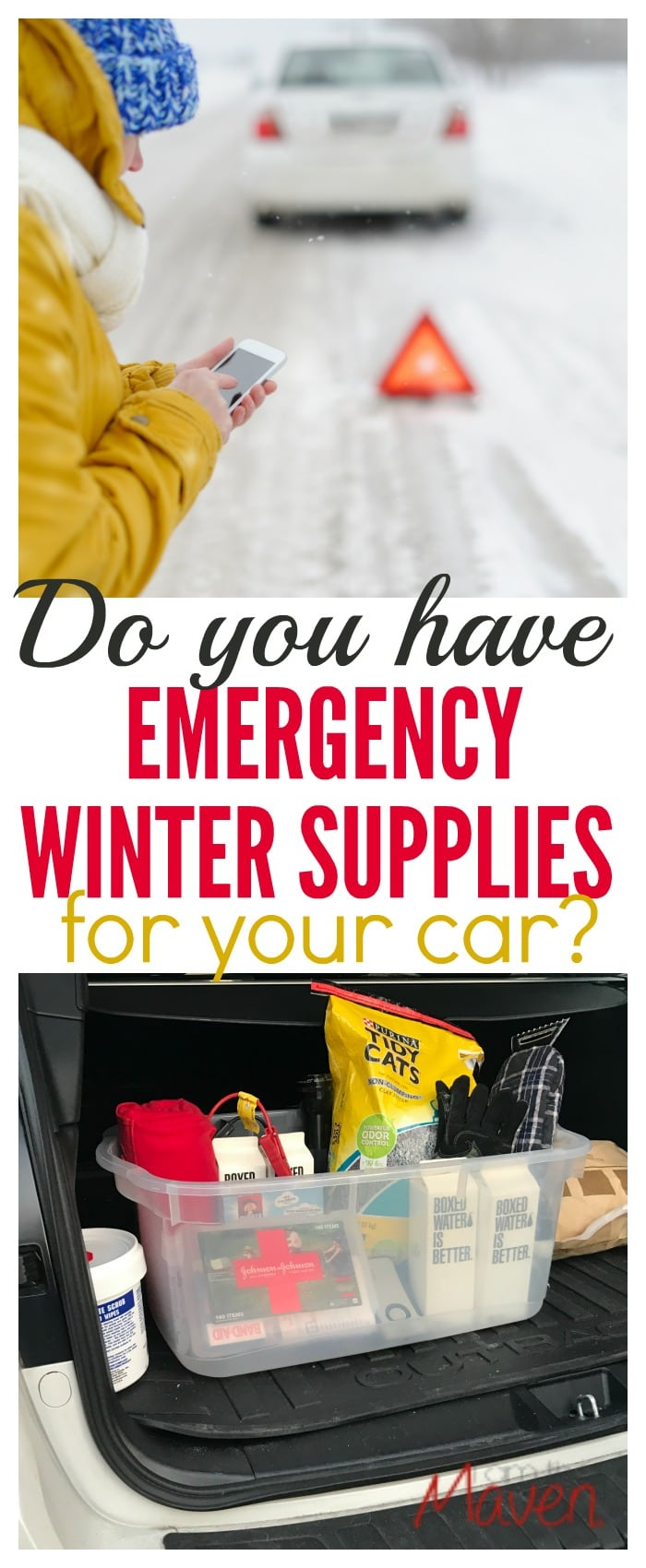 Do you have emergency winter supplies for your car? Use this checklist as a guide and be prepared.