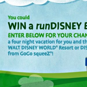 Win runDisney race vacation thanks to GoGo squeeZ!