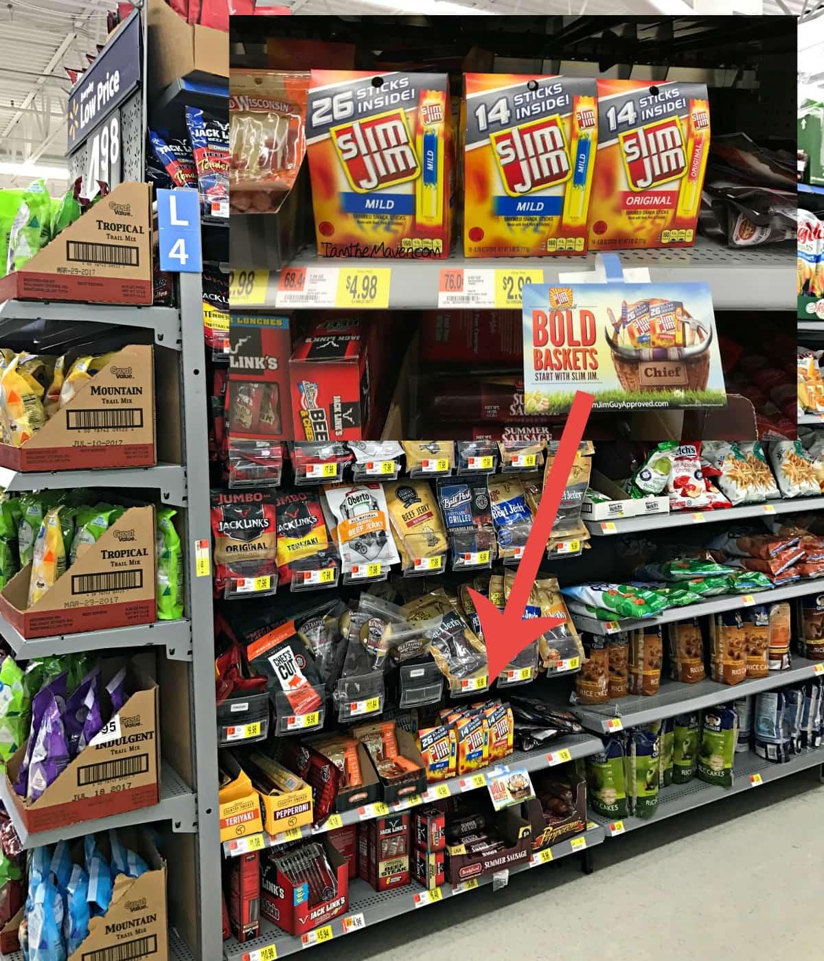 Slim Jims at Walmart