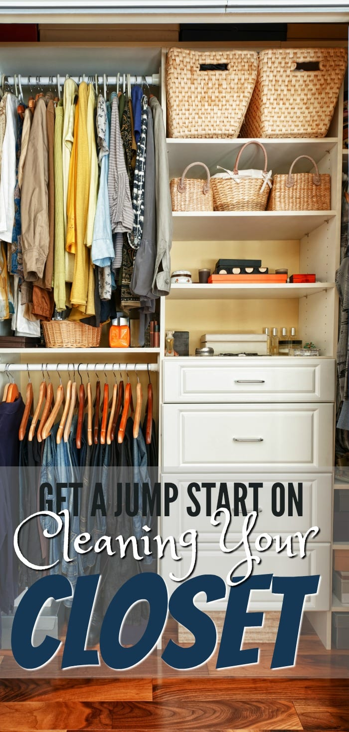 Follow these tips on cleaning your closet