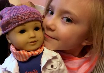 Kid's T-Shirt Scarf Inspired by American Girl