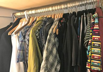 Make a shared closet space work by swapping out your hangers