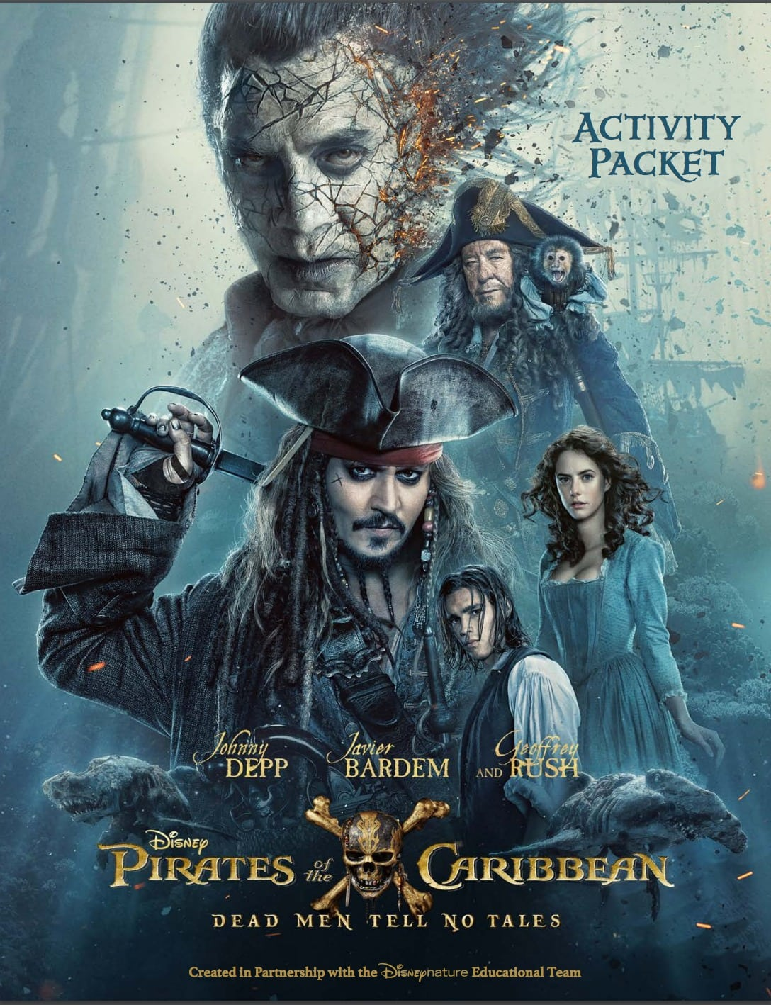 Check out this really fun Pirates of the Caribbean activity packet filled with games, puzzles, mazes, etc. English (and Spanish available)