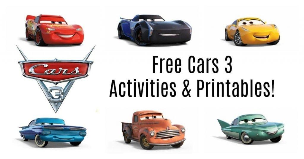 Free Cars 3 Printables