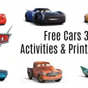 Get your FREE Cars 3 Activities & Printables HERE!