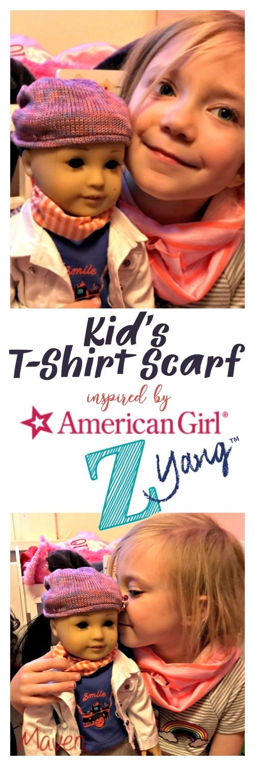 Make this EASY Kid's T-Shirt Scarf inspired by American Girl's Z Yang!