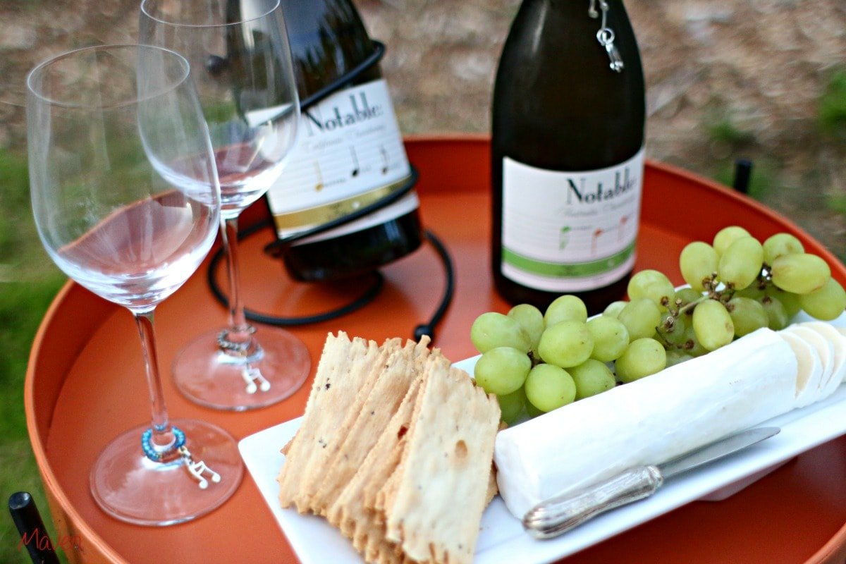 Notable wines with cheese and fruit