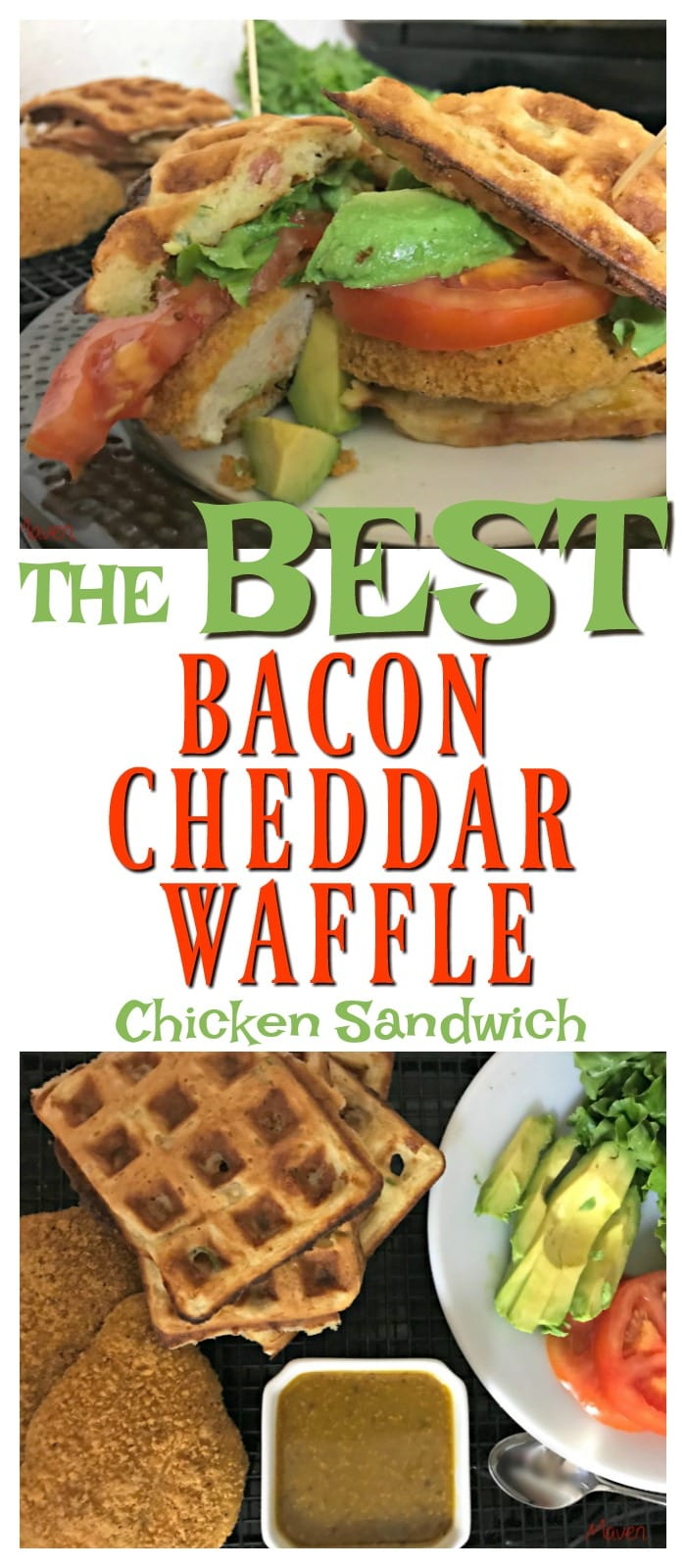 Looking for the BESTY Bacon Cheddar waffle chicken sandwich!