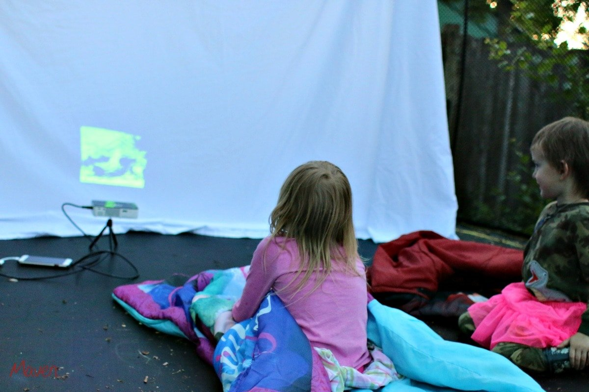 It's fun to watch movies outside!