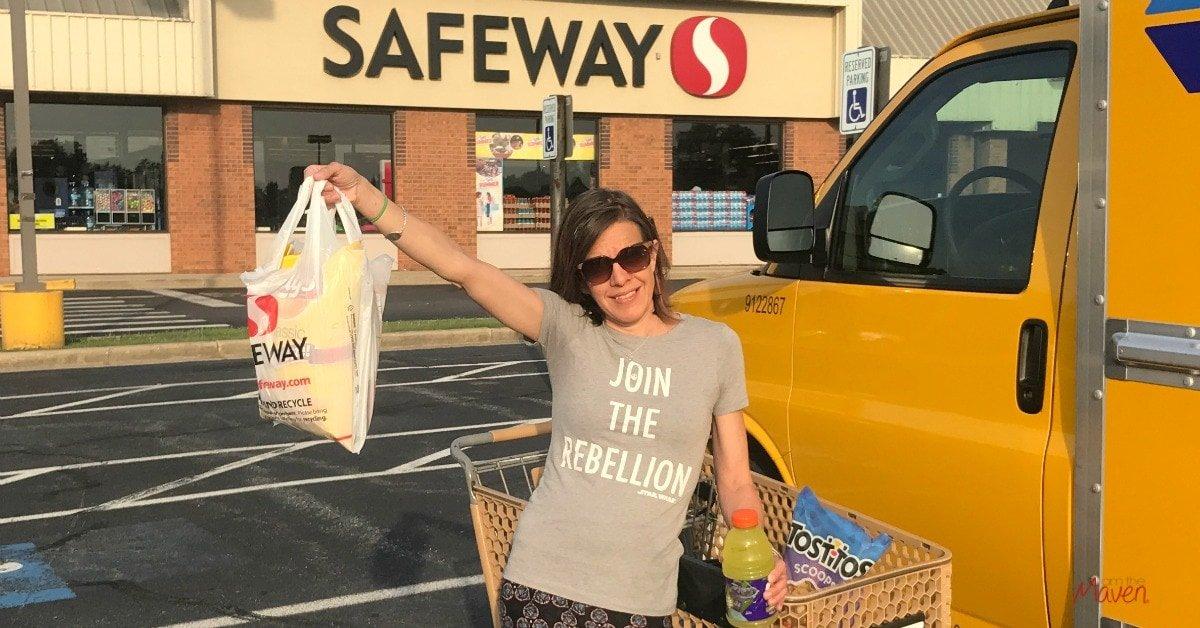 Buying road trips snacks