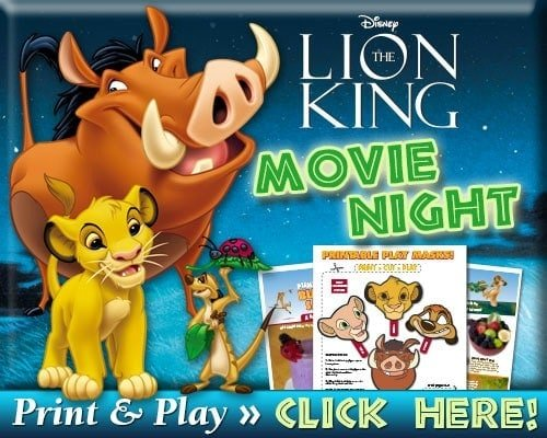 Lion King Movie Night Activities