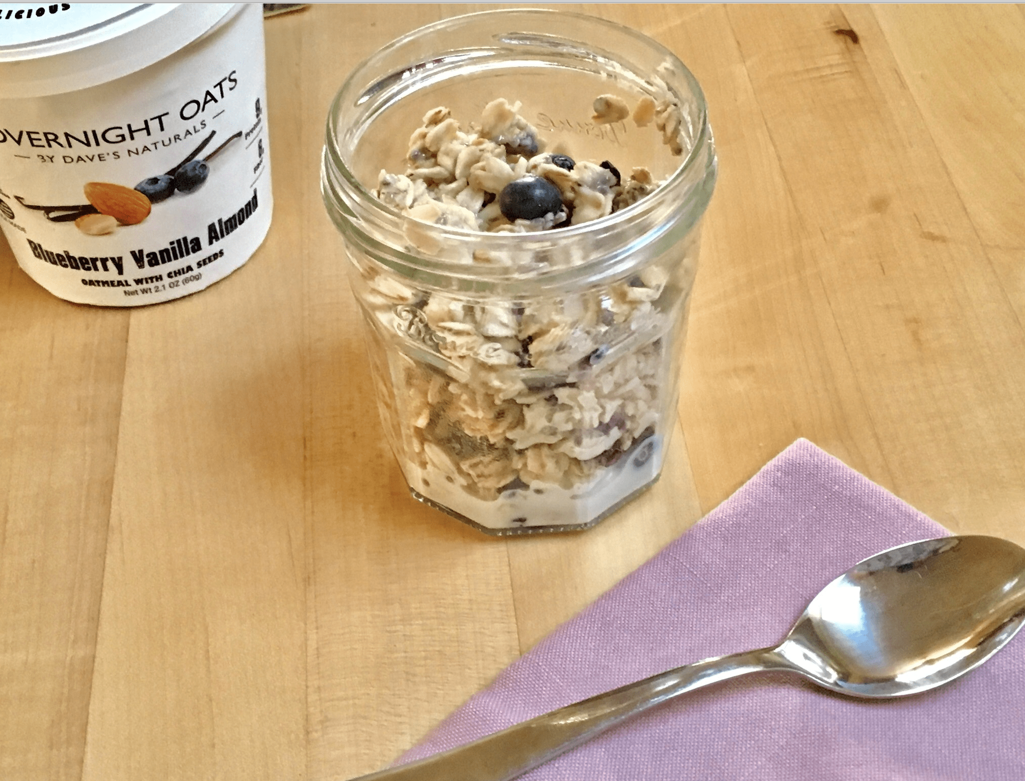 Blueberry Vanilla Almond overnight oats