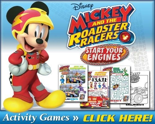 free mickey and the roadster racer printables
