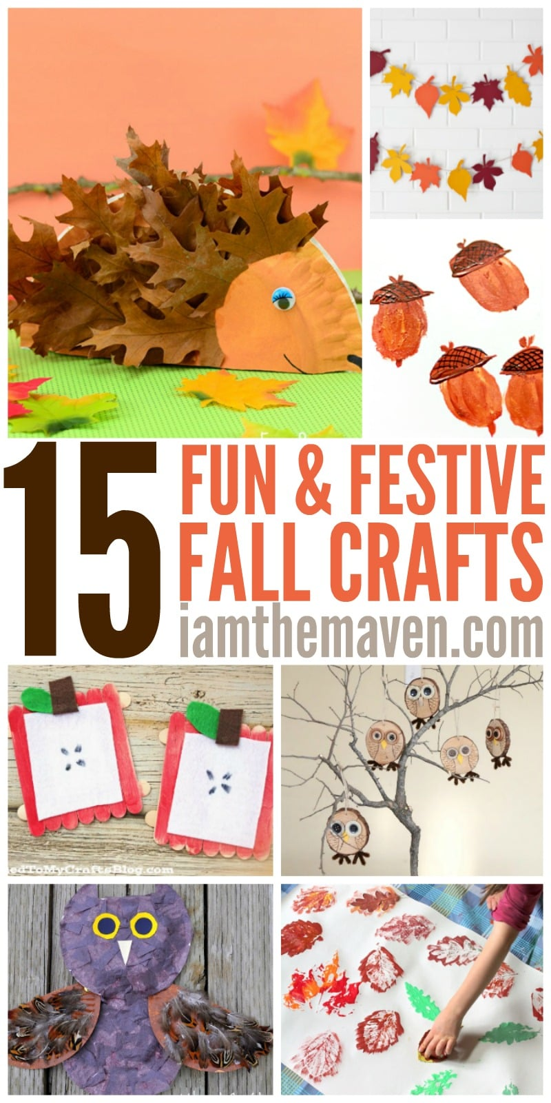 Don't let the end of summer get you down. You'll love these 15 easy fall crafts for kids! Go in a walk, collect some leaves & have fun!
