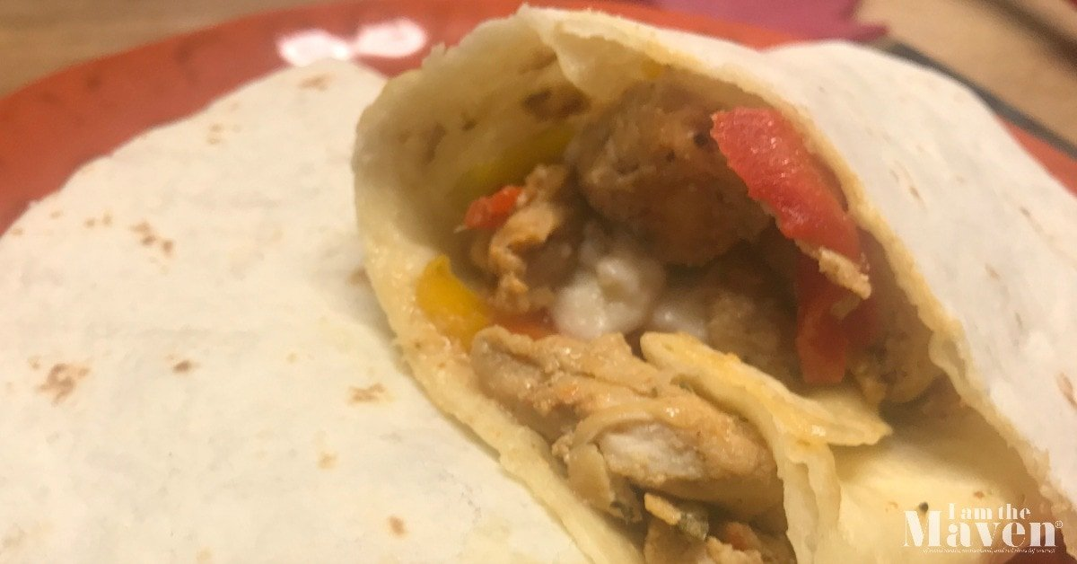 easy chicken fajita wrap
